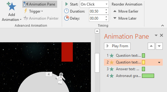 The Animation Pane