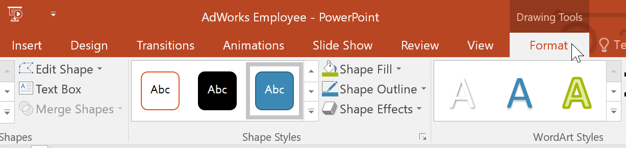 powerpoint 2016 action buttons