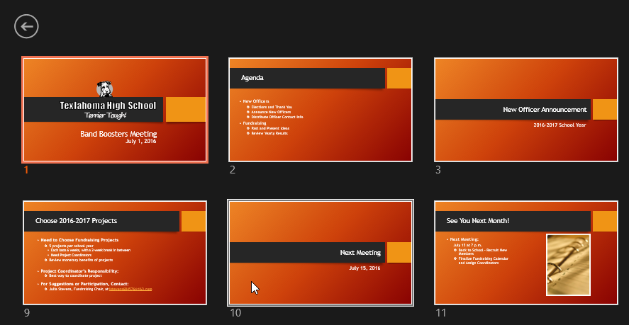powerpoint 2016 presenting your slide show