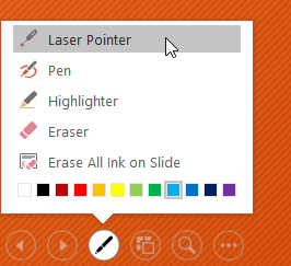 selecting the Laser Pointer - www.office.com/setup