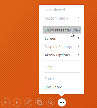 opening presenter view - www.office.com/setup