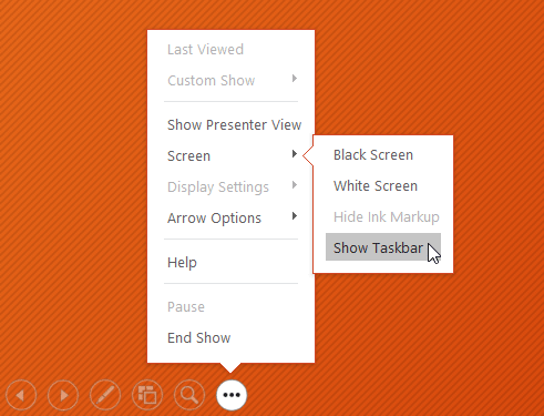 showing the Taskbar - www.office.com/setup