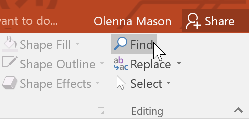 PowerPoint 2016: Using Find & Replace