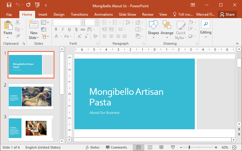 the PowerPoint interface