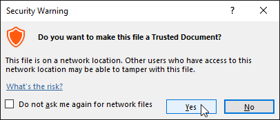 Making the database a trusted document