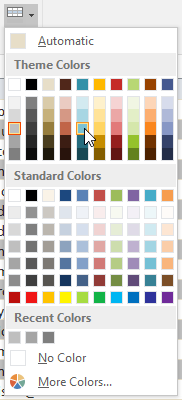 Choosing a row color