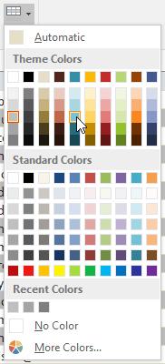 Choosing a row color