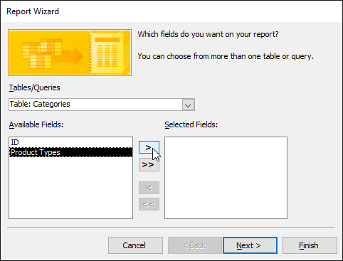 Adding fields to a report
