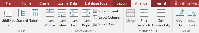The commands on the Arrange tab - www.office.com/setup