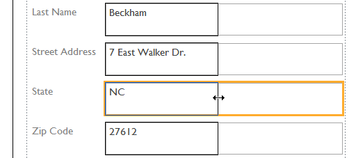 Clicking the edge of a field to resize it - www.office.com/setup