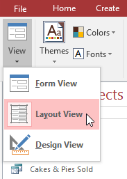 Switching to Layout View