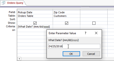 A more detailed parameter prompt