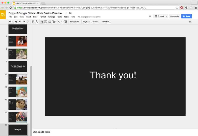 google slides slide basics