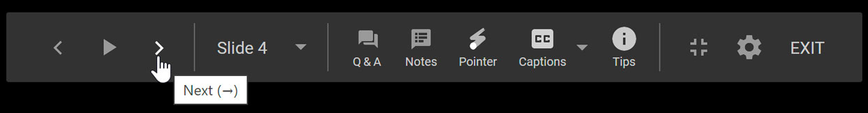 showing the navigation bar