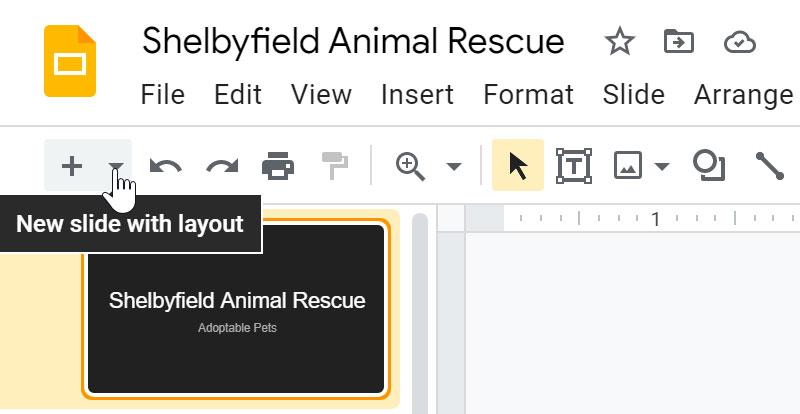 clicking the layout drop-down menu