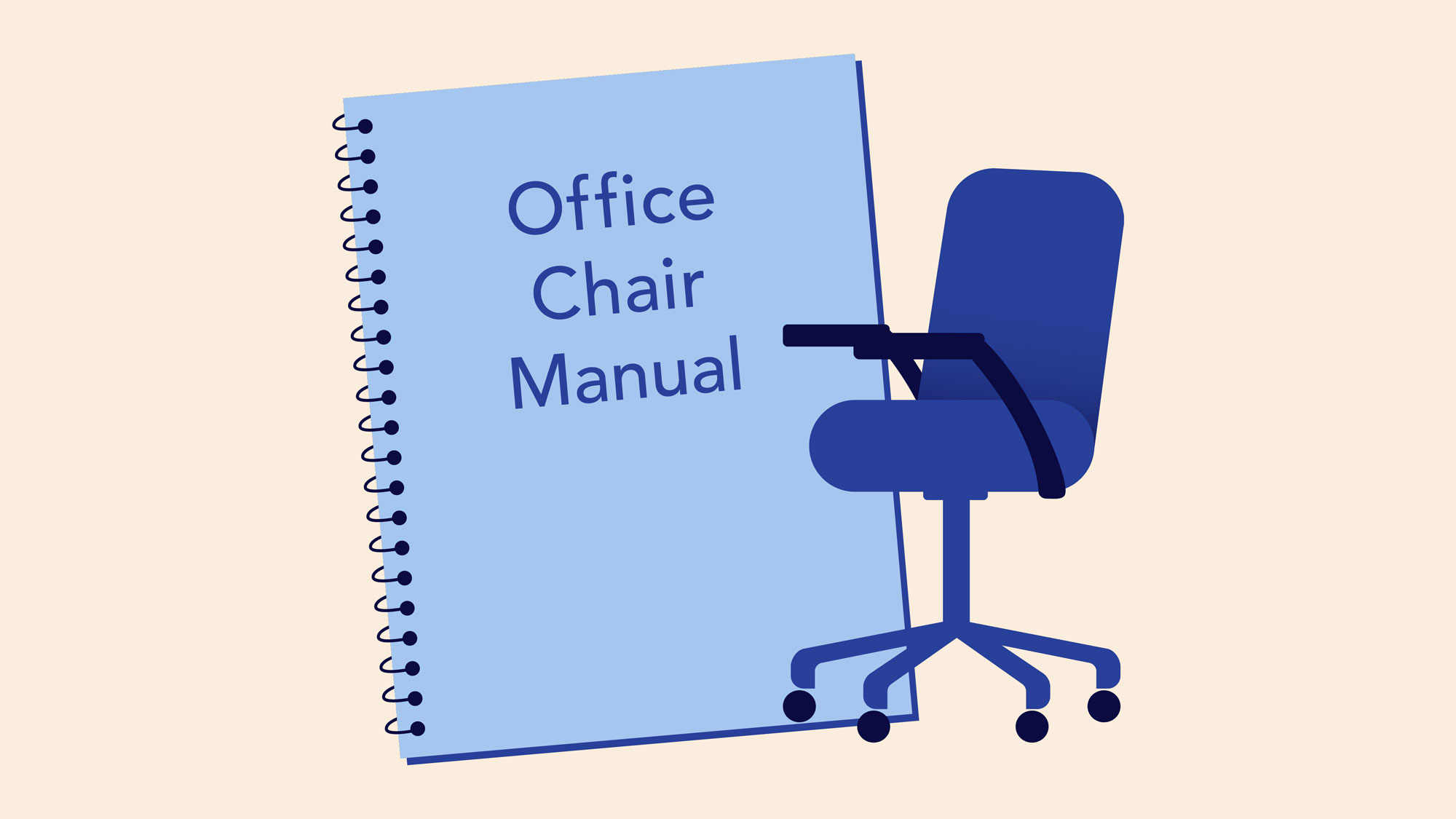 showing a office chair manual