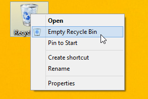 empying the recycle bin