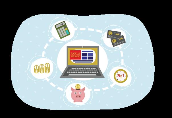online banking illustration
