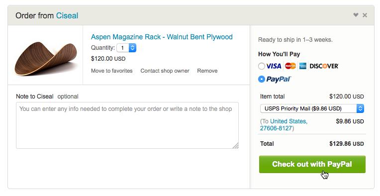 用PayPal支付购买的东西
