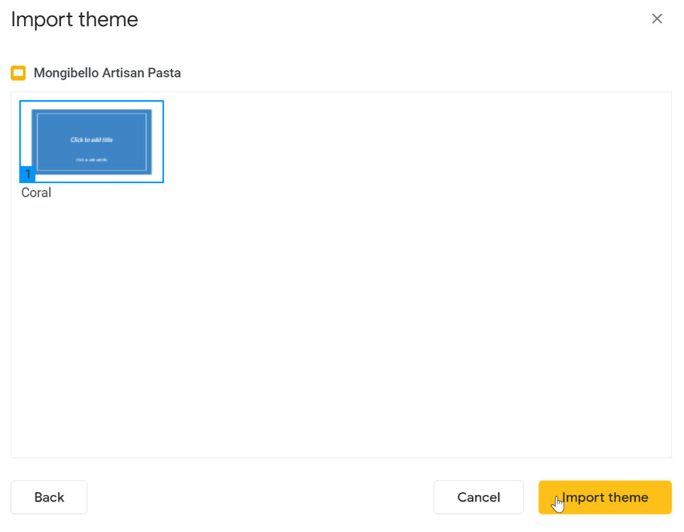 importing the theme