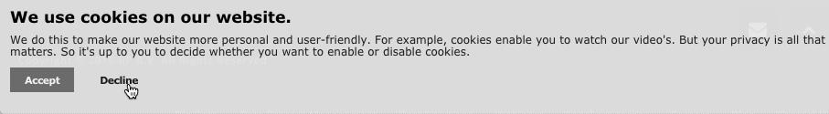 Отключить файлы cookie