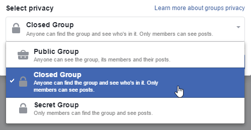 how to i close a group on facebook