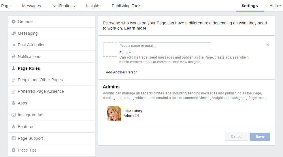 how to add admin to facebook page 2016