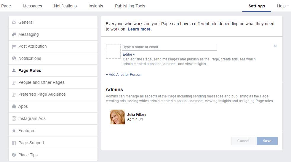 adding page admins