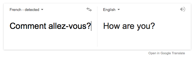 typing a phrase in French
