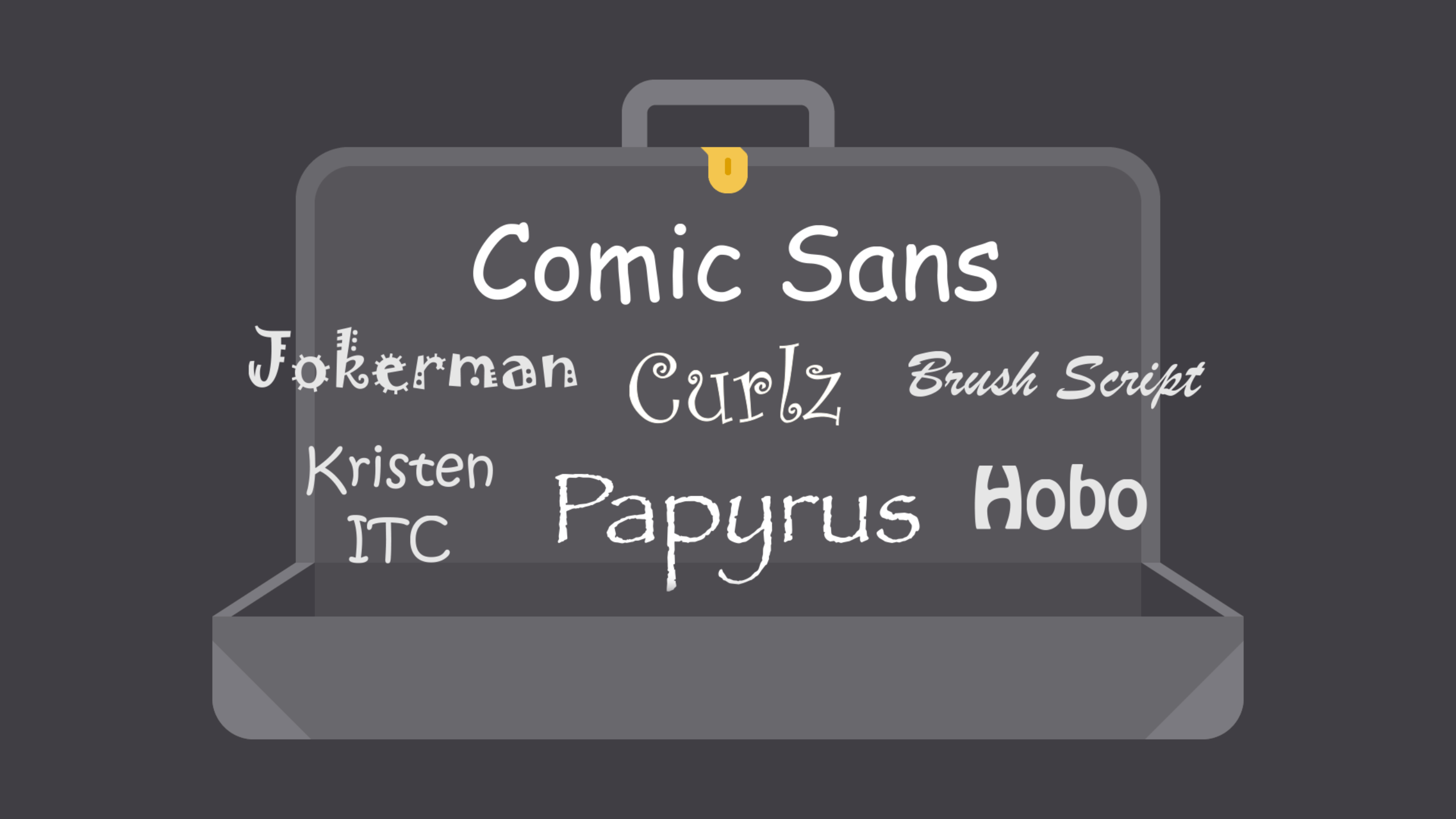 commonly overused fonts