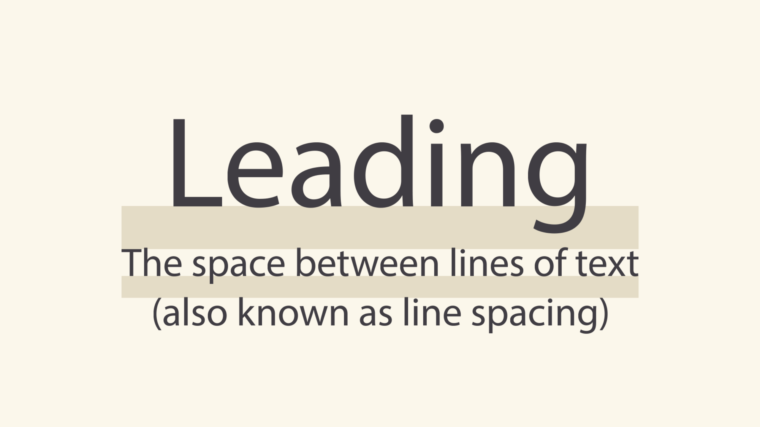 leading, or line spacing