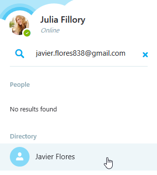searching for new skype contacts