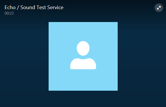 the active test call window