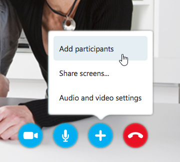 adding participants to a group video call
