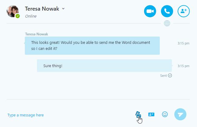 sending a file over skype