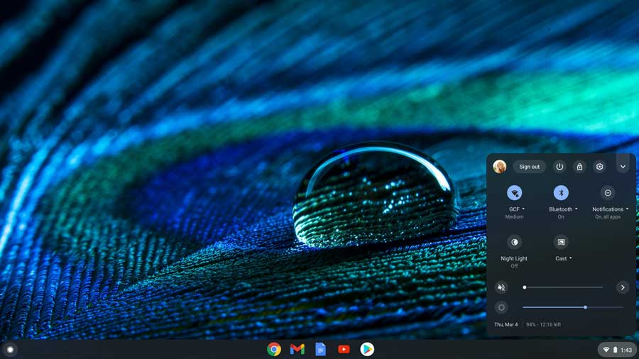 Chromebook desktop interactive