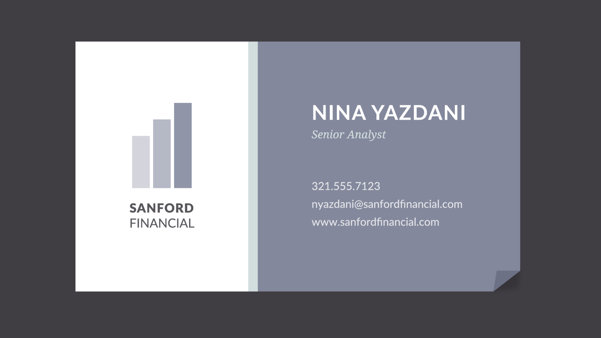 conservative business card