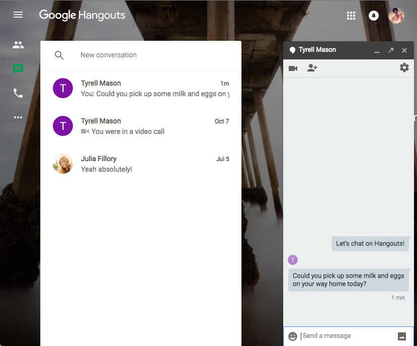 Google Hangouts: Text Conversations
