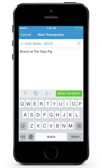 new transaction screen