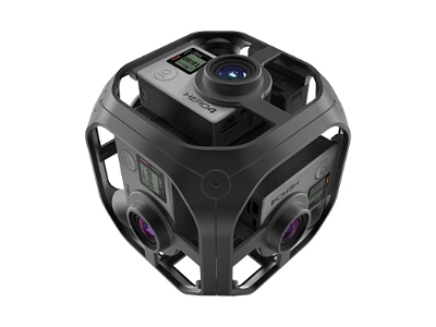 A photo of a GoPro Omni camera.