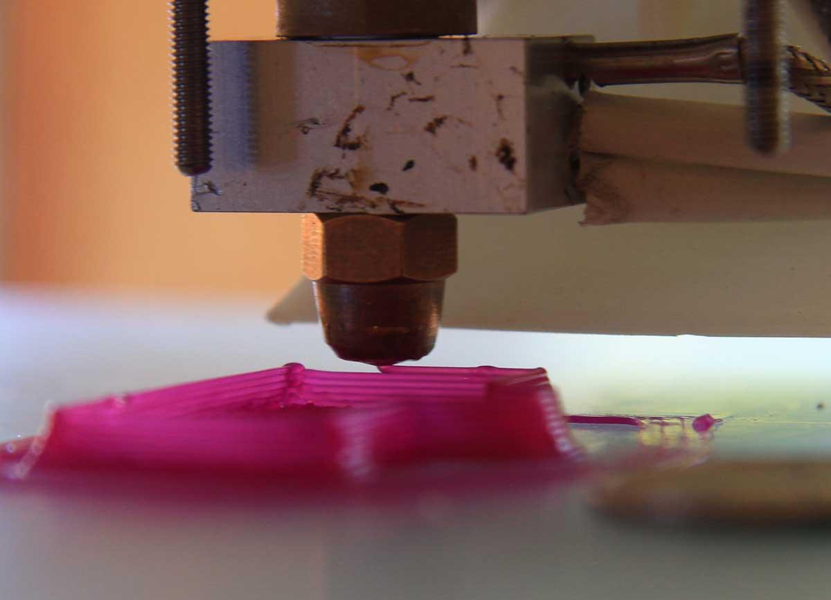 A 3D printer nozzle