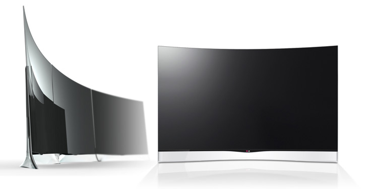 Photo of curved OLED TV