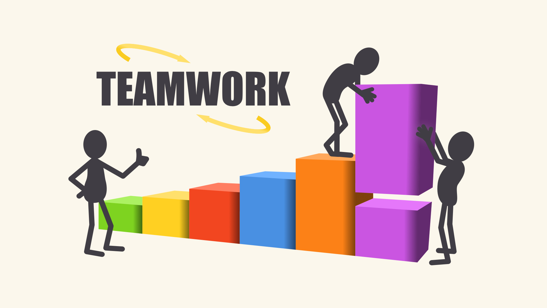 out-of-date teamwork graphic