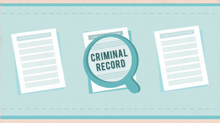 "A magnifying glass over a document that reads ""Criminal Record."""