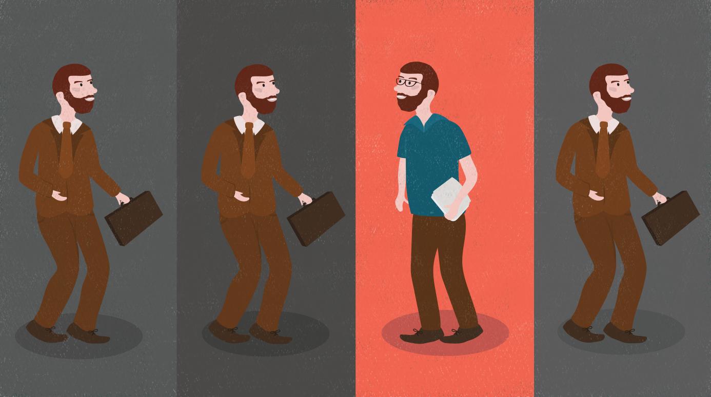 a man making a career change