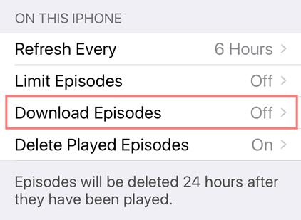 download episodes