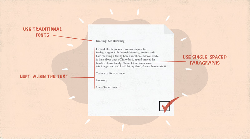 Business Communication How To Format A Business Document - Business document format