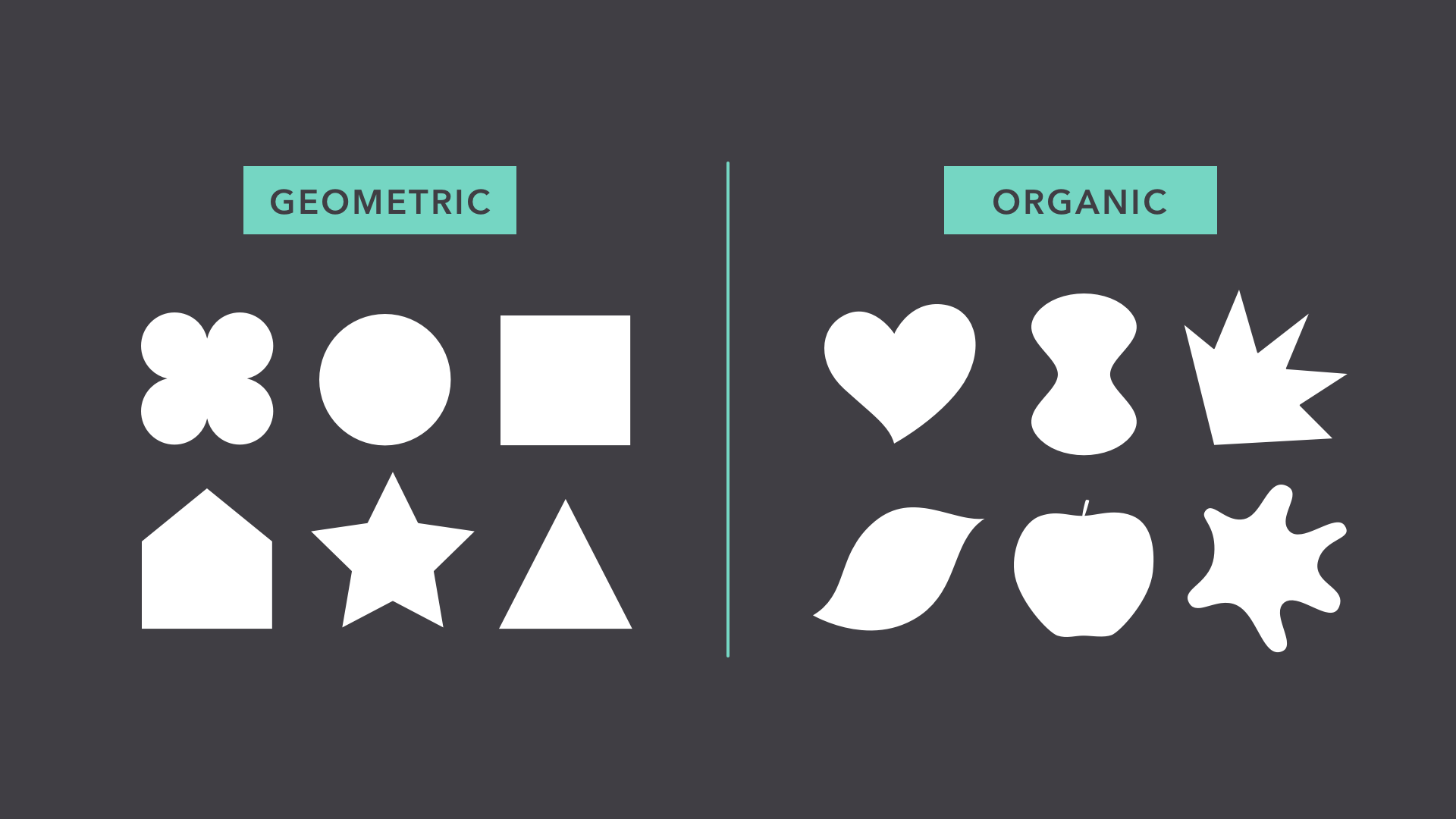 geometric vs. organic shapes