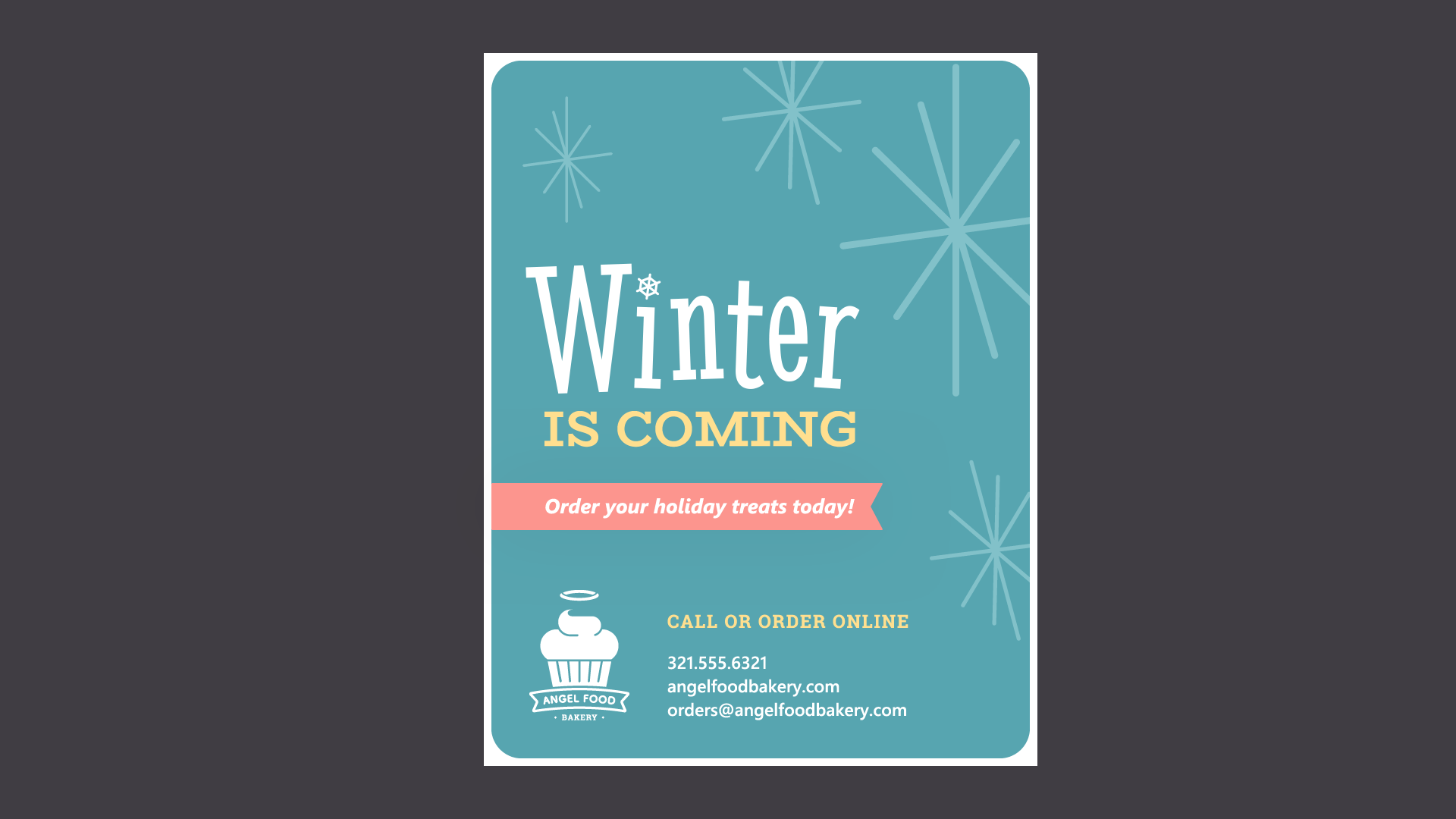 winter bakery flyer