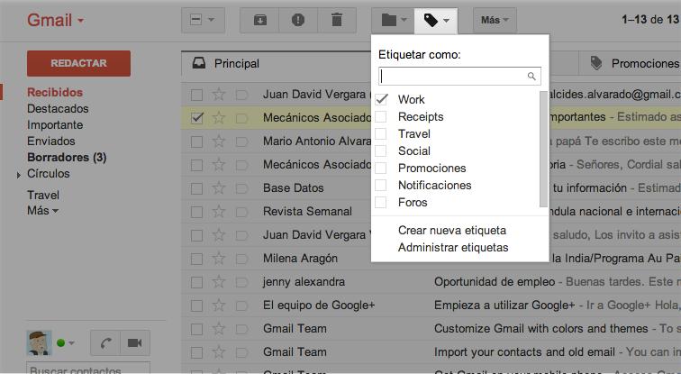 Herramientas de Gmail